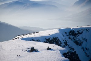 Aerial View of Ben Nevis Summit